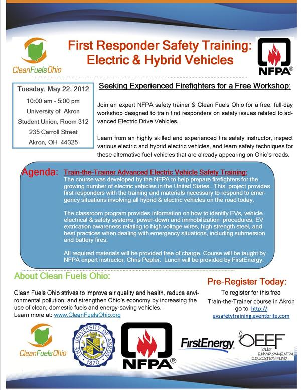 May 22nd First Responder Training Flyer - Akron 2